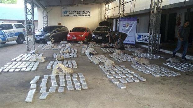 Parte de las cargas de marihuana decomisadas en la ciudad correntina de Itatí en el Operativo Sapucay.