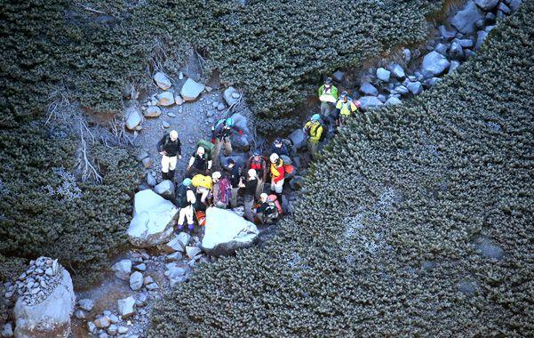 La erupción alcanzó anteayer a 71 montañistas en el volcán Ontakesan