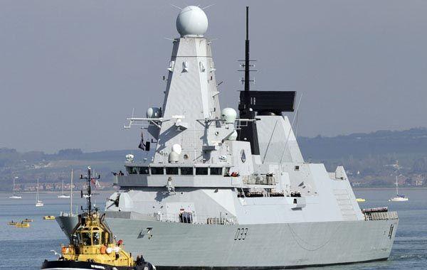 Un poderoso destructor inglés fue enviado a las islas Malvinas.