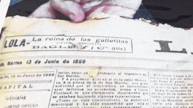 Hallazgo. El ejemplar de este diario del martes 13 de junio de 1899 encontrado en la cápsula del tiempo en 1961.