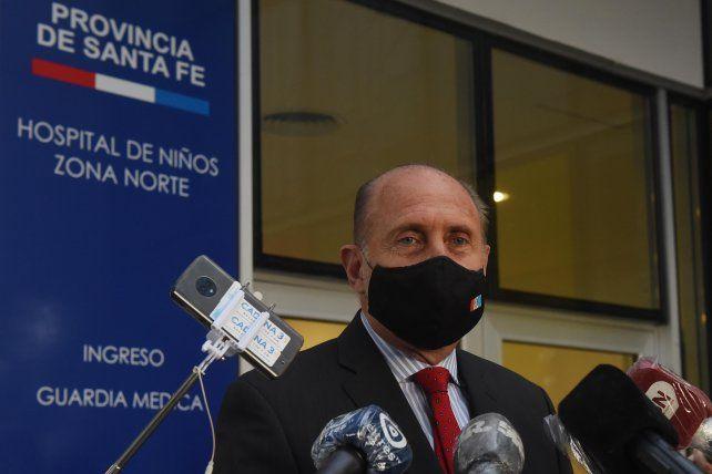 El gobernador Omar Perotti