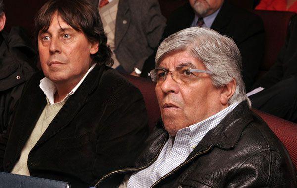 Micheli (CTA) y Moynao (CGT) hablaron en el Senado.