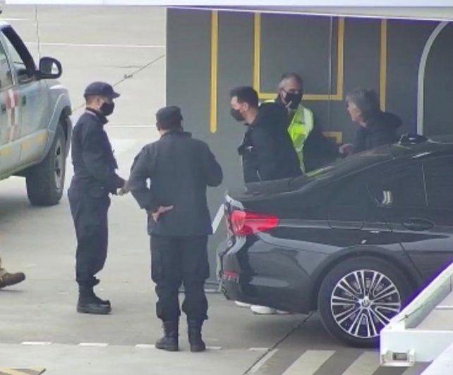 Messi y su familia ya volaron hacia Miami desde Fisherton.