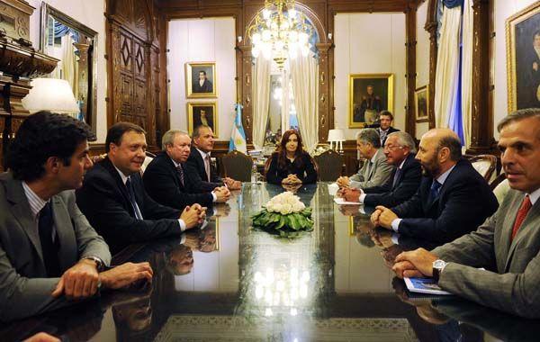 Cristina Fernández de Kirchner y gobernadores