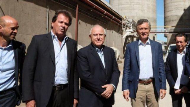 Nardelli y Macri junto al exgobernador Miguel Lifschitz.