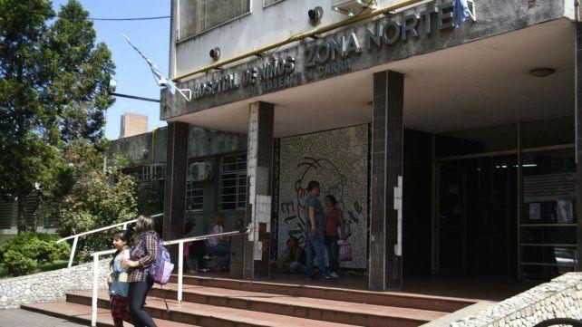 La guardia del Hospital Niños Zona Norte fue escenario de un hecho de violencia.