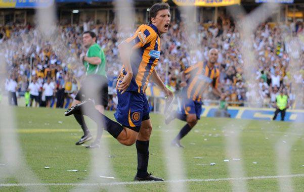 Gritó varios. Gonzalo Castillejos ya conoce lo que es ser goleador con la camiseta de Central.