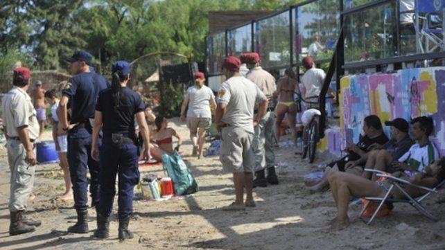 En acción. La clausura se realizó en la zona de la rambla Catalunya.