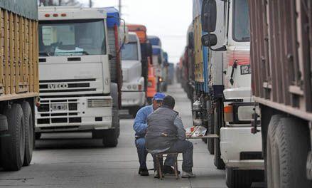 En San Lorenzo los transportistas van al paro con un fuerte apoyo de la CGT