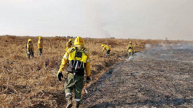 Este fin de semana se trabajó intensamente en combatir focos de incendio en el Delta del Paraná