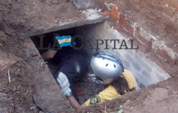 Hallan un segundo túnel de mayor longitud que conecta otra casa de la familia Cantero