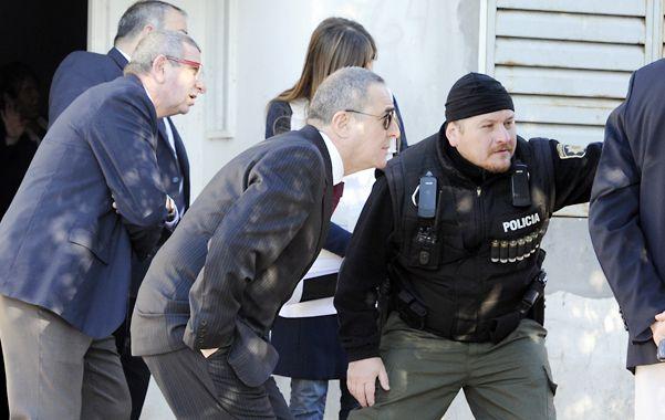 Apuntados. El juez Vienna (izquierda) y el fiscal Camporini (a su derecha)