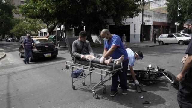 Fernández fue trasladado al Hospital Provincial tras el choque.