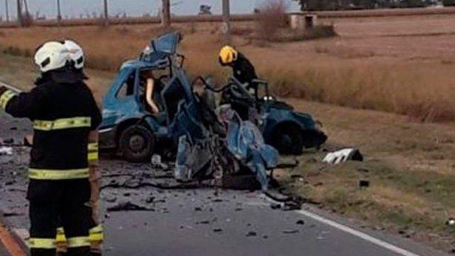 Tres muertos en choque entre dos vehículos en Marcos Juárez