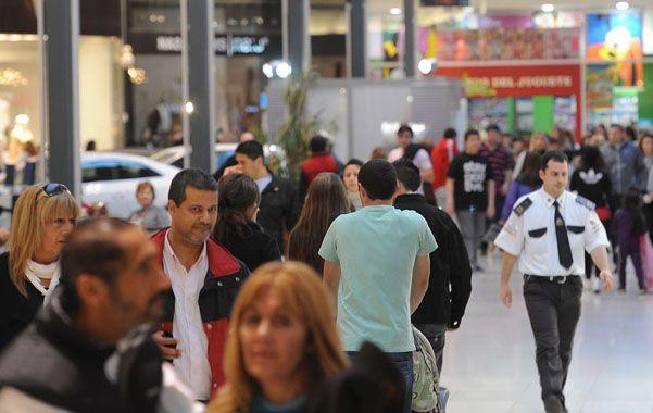 centros de compra. La facturación de los shoppings creció 33