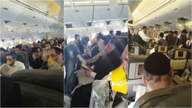 Los pasajeros judíos se pusieron a rezar cuando el avión perdió presión.