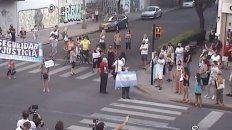 manifestacion y bocinazo en el centro rosarino para pedir mas seguridad