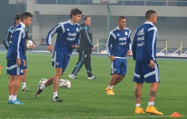 Los jugadores argentinos trabajaron en el Centro de Entrenamientos Olímpico