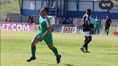Agustín Maziero dejó su huella goleadora en Lori FC. En la postal se lo ve festejando un gol ante Noah.