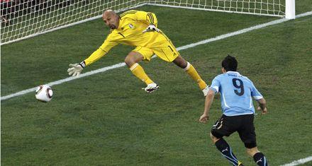 Uruguay le ganó a México 1 a 0 y ambos clasificaron a octavos
