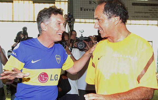 Fútbol y asado. Mauricio Macri dijo que su relación personal con Daniel Scioli es muy buena