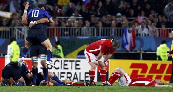 En un dramático partido, Francia venció a Gales y pasó a la final de la Copa del Mundo de Rugby