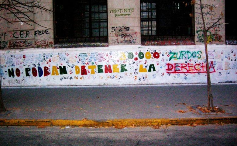 Politécnico: aparecieron en un mural pintadas fascistas contra el centro de estudiantes