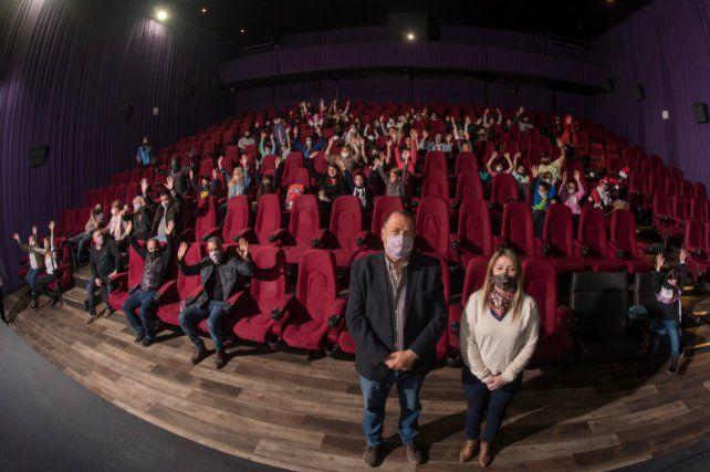 Ratner y Baclini estuvieron presentes en las funciones de cine.
