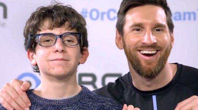 Lionel Messi junto a Pere Ribas
