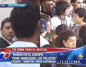 Está en coma el chico herido antes de un recital de Viejas Locas en Vélez