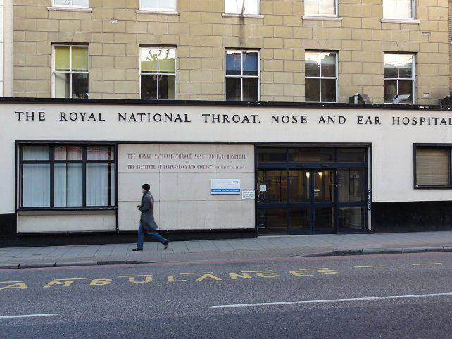 INTERNACIÓN. El hospital de Londres donde había ingresado el paciente.