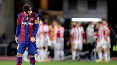 Messi fue expulsado en la derrota del Barsa en la Supercopa
