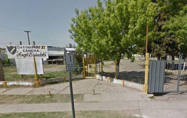 epicentro de la batahola. Las instalaciones del club rosarino están ubicadas en Seguí y Garzón.