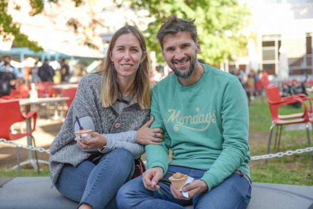 Valeria Baldini y Pablo López