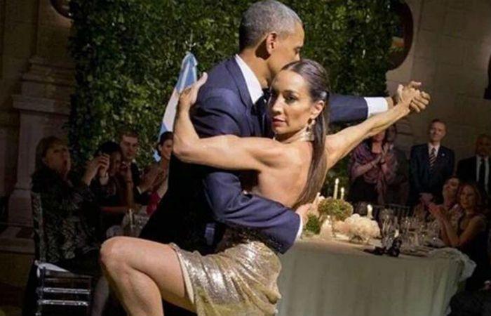 Mora Godoy le enseñó algunas técnicas del tango a Obama.