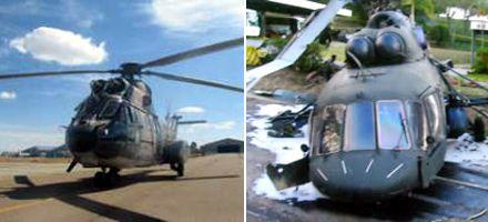 Cinco muertos al caer un helicóptero que horas antes había usado Evo Morales