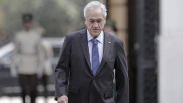 Sebastián Piñera tras llegar al Alto del Carmen.