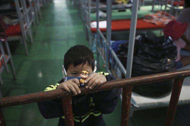 Niños migrantes deportados desde EEUU en un centro de acogida en Ciudad Juárez.
