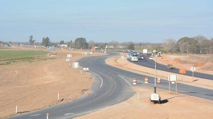 La autopista en la zona del intercambiador Susana, próximo a hablitar.