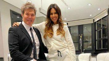 Fernando Burlando junto a Barby Franco, una relación que se sostiene en el tiempo.