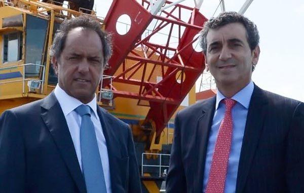 Scioli y Randazzo se disputaron la candidatura ala presidencia hasta que el ministro de Transporte retiro su postulación.