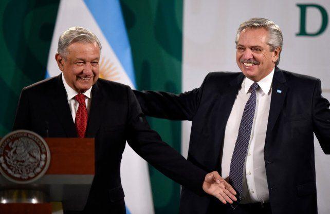 Este martes. Los mandatarios López Obrador y Fernández en México DF.