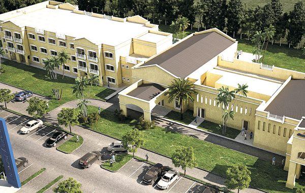 Maqueta. El lujoso Howard Johnson Resort & Spa Funes estará en el acceso a Funes de la autopista Rosario-Córdoba.