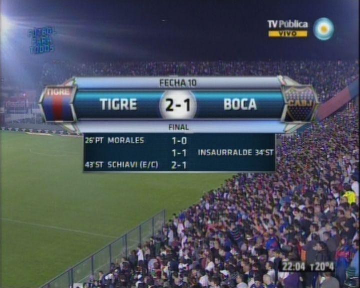 Tigre fue un verdadero Matador y le ganó a Boca, que ahora comparte la cima con Ñuls