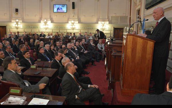 Hoja de ruta. Bonfatti enumeró las realizaciones de su administración y trazó algunas pautas para el futuro inmediato de la gestión de gobierno.