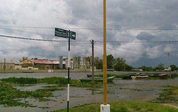 crecida. El Paraná en Victoria