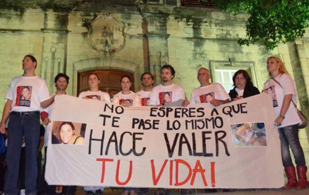 Reclamo. Una de las marchas que se hicieron por justicia para la familia Tadiello.