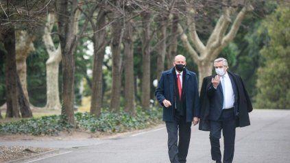 La reunión en Olivos entre Alberto Fernández y Omar Perotti fue bien recibida por el peronismo santafesino.
