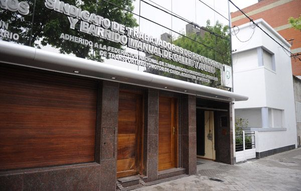 El frente del Sindicato de Camioneros de Rosario