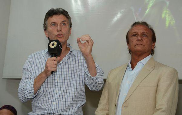 Palabras. Macri y Del Sel fueron los principales oradores en la inauguración en Santa Fe de la Fundación Pensar.